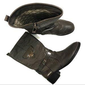 Tory Burch Women's Boots w/ Faux Pocket Detail 10M